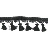 Black Tassel Fringe Trim